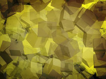 Cubos amarelos para o webdesign Imagens de Stock
