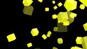Cubos amarillos en el fondo blanco metrajes