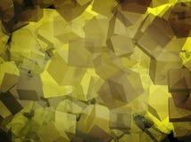 Cubos amarillos para el webdesign Imagenes de archivo