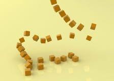 Cubos anaranjados que caen Imagen de archivo