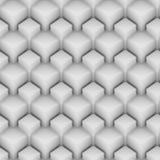 Cubos aninhados sem emenda 103 do branco Fotografia de Stock