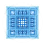 Cubos arquitectónicos do Fractal abstrato ilustração stock
