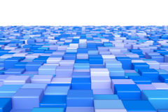 Cubos azuis Foto de Stock