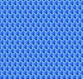 Cubos azuis abstratos Fundo sem emenda do teste padrão rendição 3d Imagem de Stock Royalty Free
