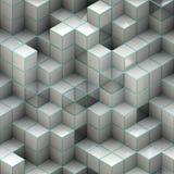 Cubos blancos Imágenes de archivo libres de regalías