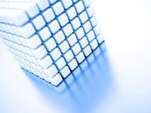 Cubos blancos brillantes abstractos Fotos de archivo libres de regalías