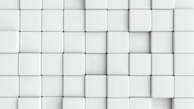 Cubos blancos lisos abstractos como fondo Imágenes de archivo libres de regalías