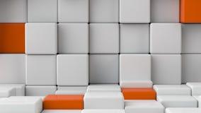 Cubos blancos lisos abstractos como fondo Fotos de archivo