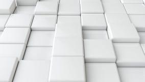 Cubos blancos lisos abstractos como fondo Foto de archivo libre de regalías