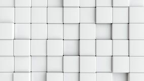Cubos brancos lisos abstratos como o fundo Imagens de Stock Royalty Free