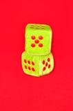 Cubos brilhantes com números Imagens de Stock