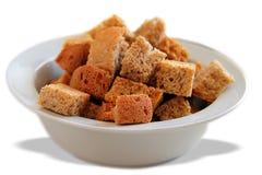 Cubos brindados do pão Imagem de Stock
