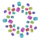 Cubos coloreados Imágenes de archivo libres de regalías
