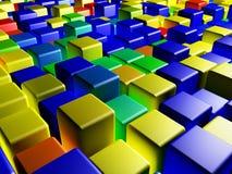 Cubos coloreados stock de ilustración