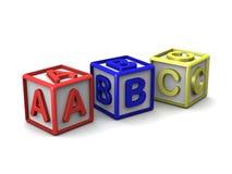 Um B C rotula cubos Imagem de Stock