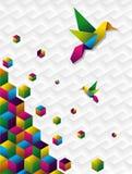 Cubos coloridos en el movimiento Imagen de archivo libre de regalías