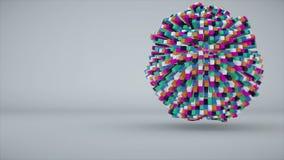Cubos coloridos que componen la esfera libre illustration