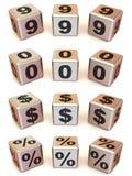 Cubos com números ilustração stock