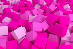 Cubos cor-de-rosa Fotos de Stock Royalty Free