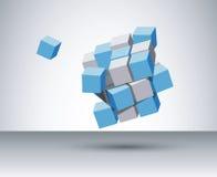 cubos 3d Imágenes de archivo libres de regalías