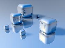 cubos 3D Fotografía de archivo