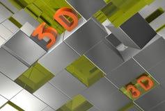 Cubos 3d abstratos ilustração stock