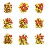 Cubos 3d abstratos jogo Imagem de Stock