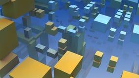 cubos 3D coloridos geométricos abstratos e retângulos Imagens de Stock