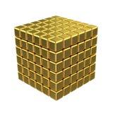 cubos 3D dourados Fotografia de Stock Royalty Free