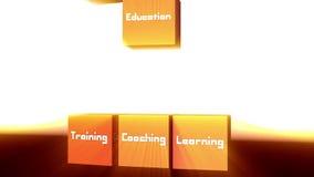 cubos 3d e conceitos da aprendizagem