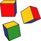 Cubos da cor Foto de Stock Royalty Free