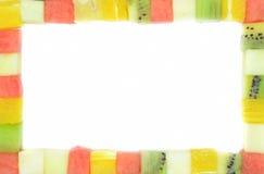 Cubos da cor dos frutos Foto de Stock Royalty Free