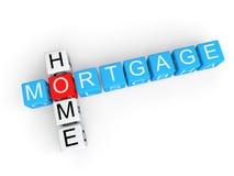 Cubos da hipoteca sobre a casa 3d Imagens de Stock