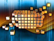 Cubos da informação ilustração do vetor