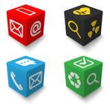 Cubos da informações de contato ajustados Imagem de Stock Royalty Free