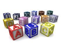 Cubos das letras Foto de Stock Royalty Free