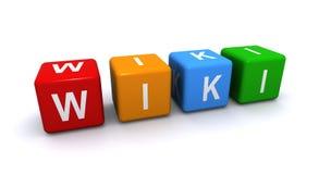 Cubos da palavra de Wiki Foto de Stock