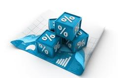 Cubos da porcentagem Imagem de Stock Royalty Free