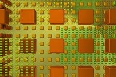 Cubos da tecnologia na cena do fundo Foto de Stock Royalty Free