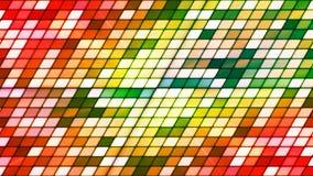 Cubos de alta tecnología de la inclinación del centelleo de la difusión, multicolor, extracto, Loopable, 4K almacen de video