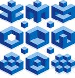 Cubos de Borg ilustração stock