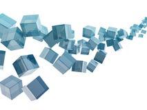 Cubos de cristal stock de ilustración