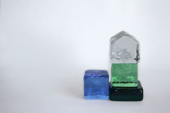 Cubos de cristal Imagenes de archivo