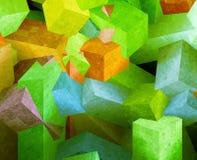 Cubos de cristal Imagens de Stock Royalty Free
