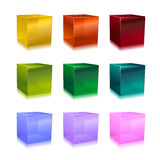 Cubos de cristal Imagen de archivo libre de regalías