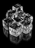 Cubos de cristal en negro Fotos de archivo