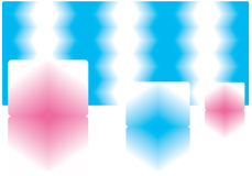 Cubos de gelo. Imagem de Stock
