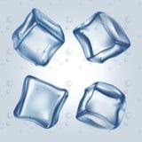 Cubos de gelo ajustados ilustração royalty free