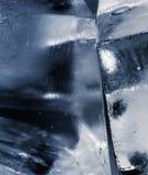 Cubos de gelo azuis Fotos de Stock Royalty Free