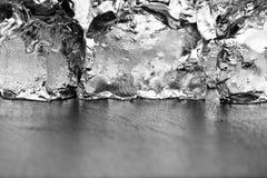 Cubos de gelo do Grayscale Fotografia de Stock